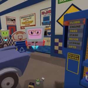 Job Simulator game garage