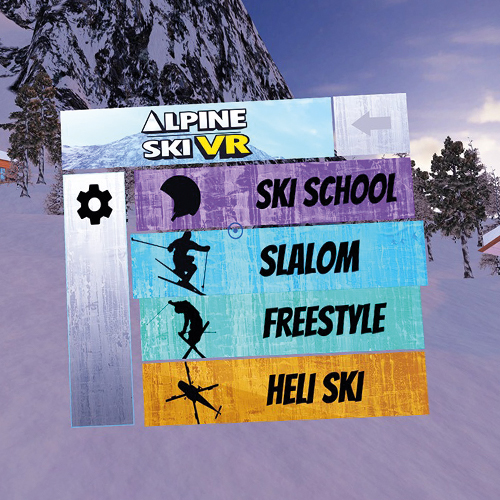 Alpine Ski VR - Minigames -Gameplays