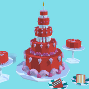 Google Blocks Cake